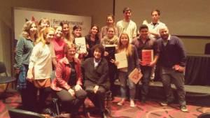 Con los alumnos de la Cátedra González y sus obras.