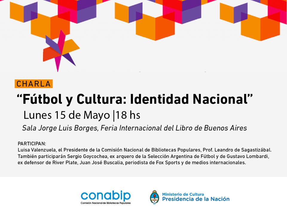 """FERIA DEL LIBRO: Luisa en el panel """"Fútbol y Cultura: Identidad Nacional"""""""