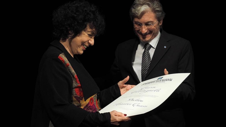 Luisa: reconocida por la UNSAM con el título de Doctora Honoris Causa