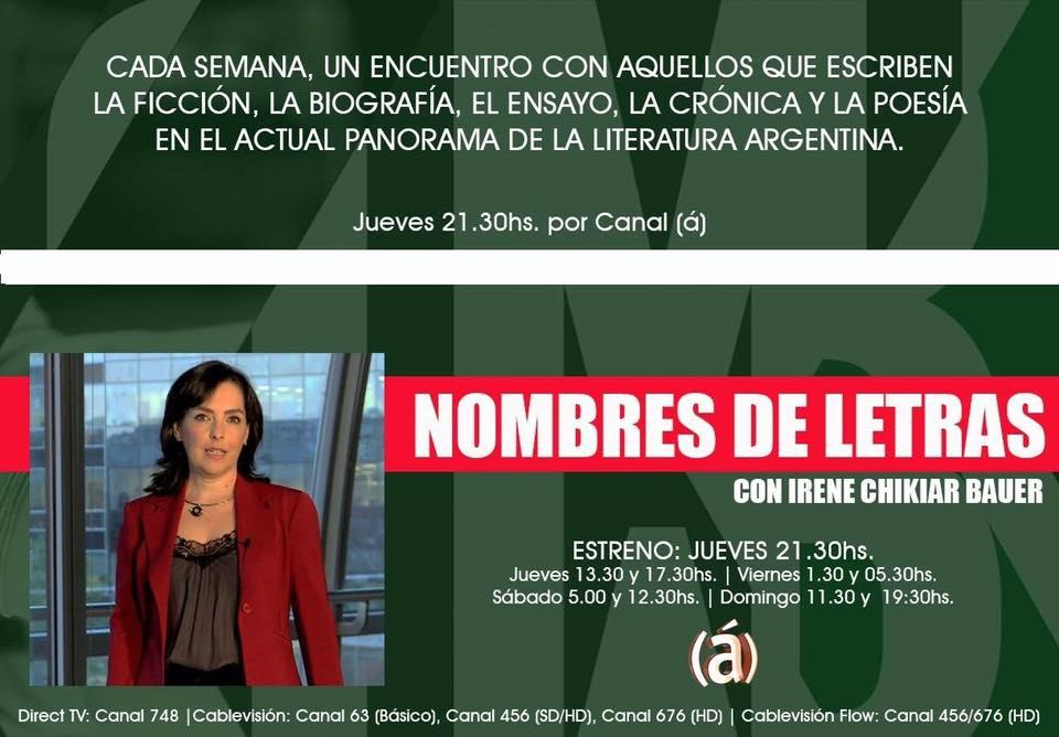 Nombres de Letras: especial Luisa Valenzuela