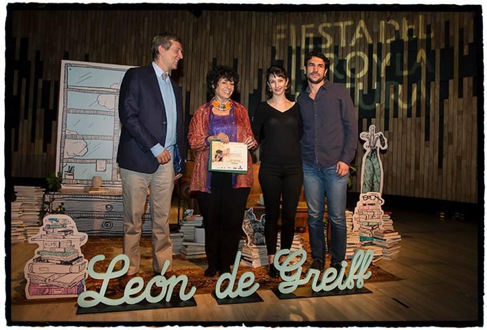 Con Lina Botero Villa, secretaria de Cultura Ciudadana de Medellín; Diego Aristizábal, director de los Eventos del Libro, y Juan Luis Mejía Arango, rector de EAFIT.