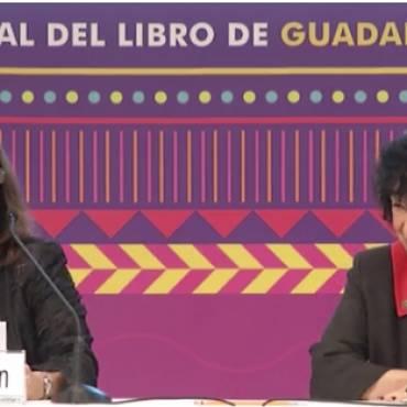 Luisa inaugura el salón literario de la FIL de Guadalajara
