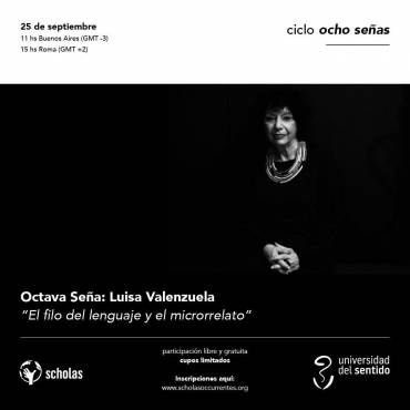 """Luisa Valenzuela cierra el ciclo """"Ocho Señas"""""""