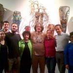 Luisa Valenzuela, Hugo Pontoriero, Raúl Menvielle y colaboradores en el sector de Artistas Invitados