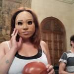 Representación con máscaras de Alfredo Iriate.