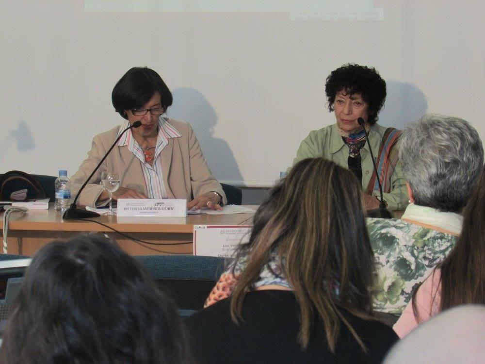 Con María Teresa Medeiros Lichem.
