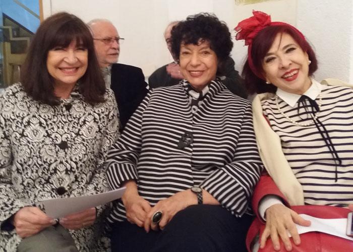 Junto a María Ordoñez y la cantante Fátima Miranda.