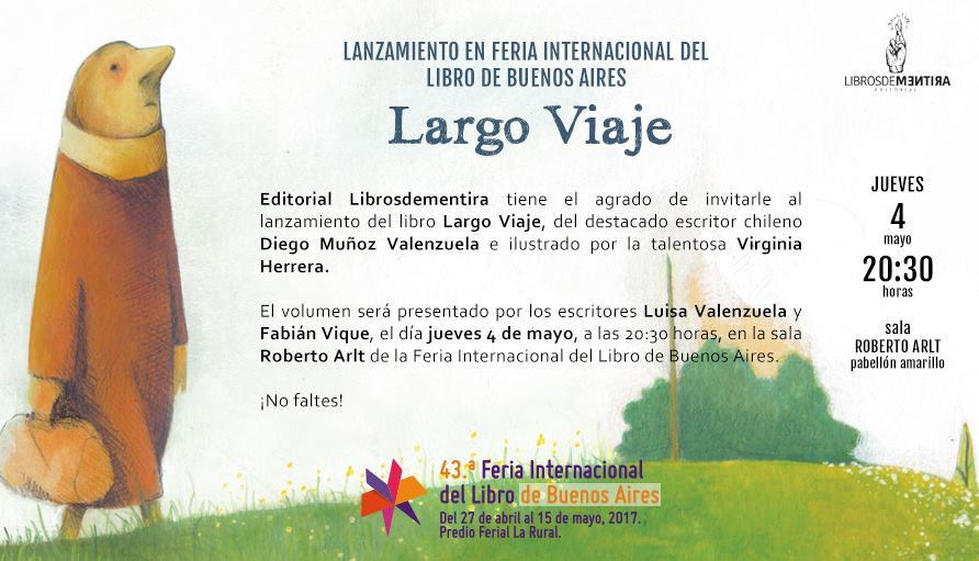 FERIA DEL LIBRO: Luisa presentará el libro de Diego Muñoz Valenzuela