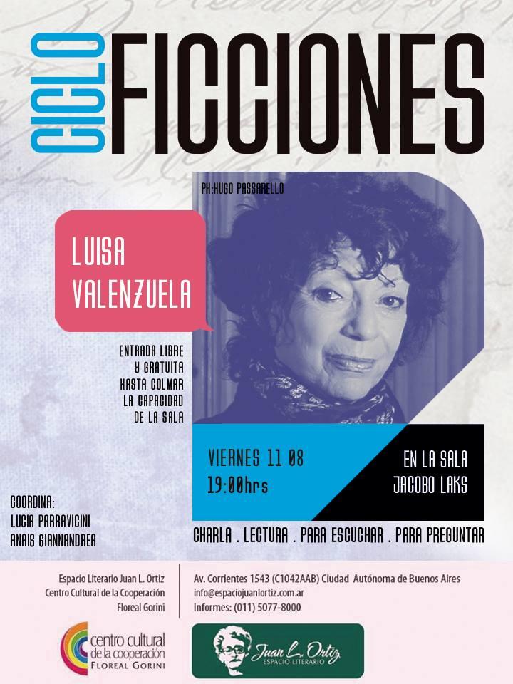 Luisa, invitada especial en el Ciclo Ficciones